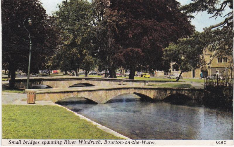 Post Card Gloucestershire Bourton-on-the-Water spanning Windrush