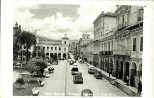 ecuador, CUENCA, Calle Bolivar, Cars (1950s) RPPC Postcard