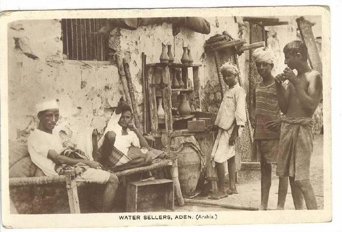 RP: Aden , Yemen (Arabia), Water Sellers , PU-1925