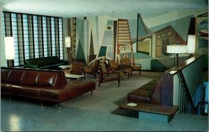 Main Lounge, Lander Hall University of Washington Seattle Vintage Postcard K04
