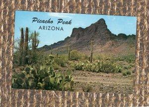 Picacho Peak Vintage Postcard Arizona Landmark Mountain Southwest Scenic