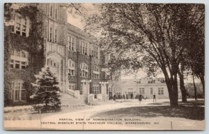Warrensburg MO~Central State Teachers College~Administration Bldg~Students~1930s