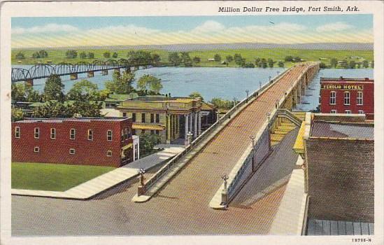 Arkansas Fort Smith Million Dollar Free Bridge 1942