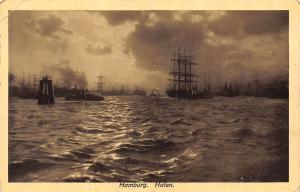 Hamburg Hafen Schiff Boats Harbour Boats Panorama 1914