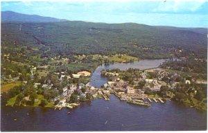Air view of Wolfeboro, New Hampshire and Docking M/V Mount Washington NH