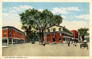 NH - Laconia. Bank Square