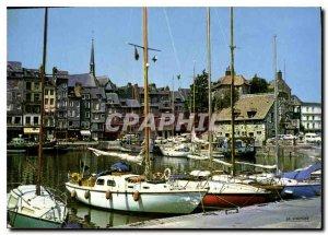 Modern Postcard Normandy France Honfleur Lieutenancy and the Basin