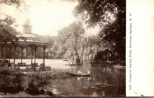 New York Saratoga Springs Boating In Congress Spring Park 1908
