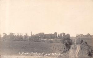 Stanton Iowa~Lutheran Childrens Home~Campus Panorama~Hilly Dirt Roads~c1915 RPPC