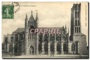 Old Postcard Limoges La Cathedrale St Etienne