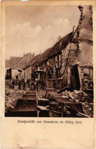CPA AK Stassenbild von SENNHEIM im Marc 1915 (452060)
