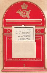 Hilsen Fra Himmelbjerget Postbrevkasse Denmark Postbox Novelty Old Postcard