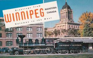 Greetings From Winnipeg MB, Manitoba, Canada - CPR#1 Countess of Dufferin