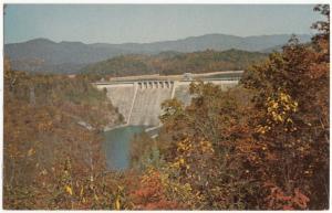 Hiwassee Dam near Murphy, North Carolina, unused Postcard