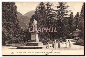 Old Postcard Luchon Quinconces Park and monument & # 39Etigny