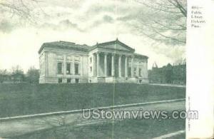 Public Library Holyoke MA Unused