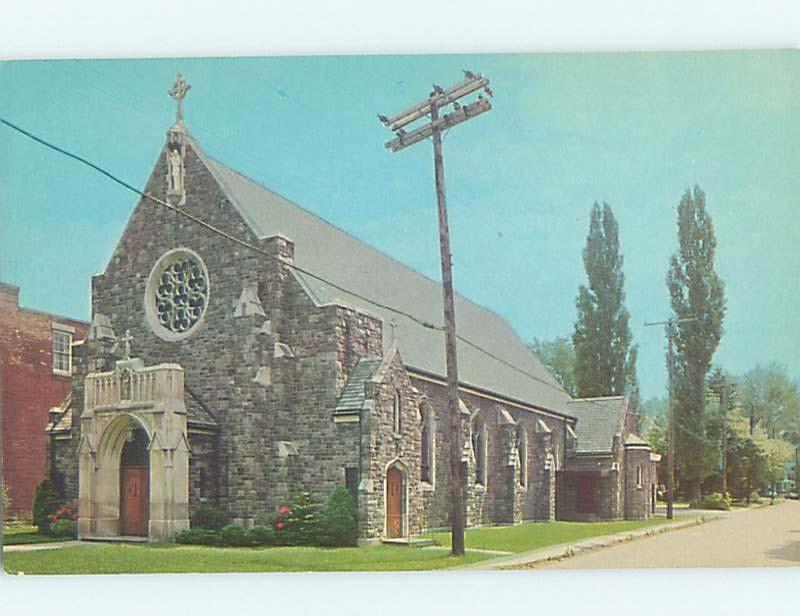 Unused Pre-1980 CHURCH SCENE Silver Creek - Hanover - Near Buffalo NY A6631