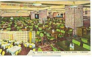pc2966 postcard Chicago Cafeteria YMCA Hotel 1945