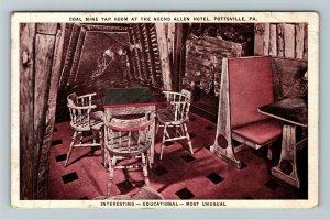 Pottsville PA-Pennsylvania, Coal Mine Tap Room, Hotel, Vintage Postcard