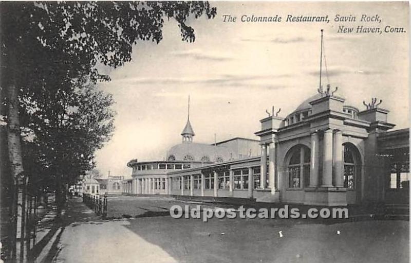 The Colonnade Restaurant, Savin Rock New Haven, Connecticut, CT, USA Unused