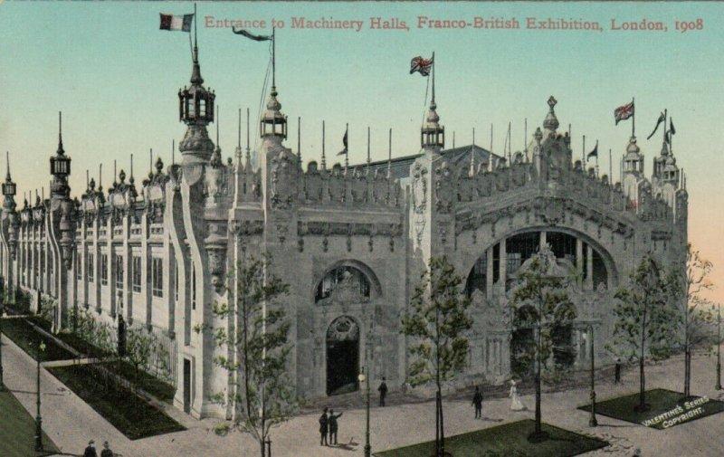 LONDON , England , 1908 ; Entrance to Machinery Hall, Franco-British Exhibition
