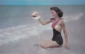 Girl with a seashell , 1950-60s