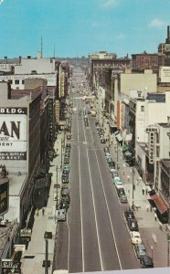 SYRACUSE, New York, 1940-60s; Downtown, View looking down from the Chimes Bui...