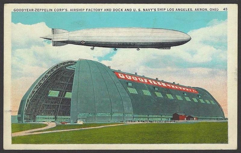 U.S.S. LOS ANGELES ZR-3 & Goodyear Zeppelin Airship Factory
