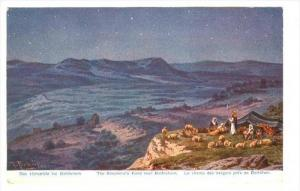 Shepherds camp at night over Bethlehem, Palestine , 00-10s