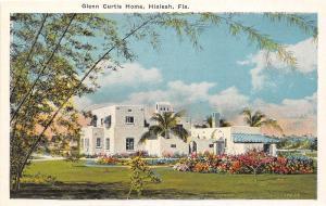 A97/ Hialeah Florida Fl Postcard c1910 Glenn Curtis Home Pilot Airplane