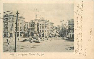 1906 Square Lancaster Pennsylvania Rotograph undivided postcard 10614