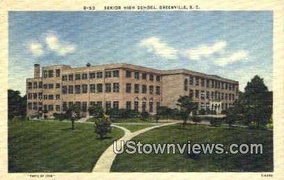 Senior High School, Greenville Greenville SC Unused