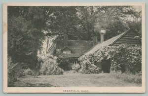 Deerfield Massachusetts~Cottage in Woods~Chimney Smoking~Shaded by Trees~1923
