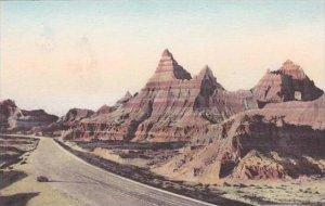South Dakota Wall Leaving Cedar Pass Badlands National Monument Albertype