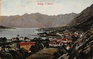 Montenegro Kotor panorama postcard