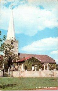 New Castle Delaware Postcard 1964 Immanuel Church Chrome MG
