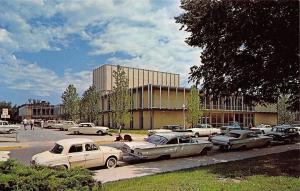 Columbia MO~Fine Arts Building~University Of Missouri~Lotsa White 1950s Cars
