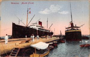VERAZCRUZ MEXICO MUELLE FISCÁL-STEAMER SHIP~HARBOR~DOCK~LATAPI & BERT POSTCARD