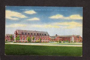 MI Mason Abbott Hall Dorm Michigan State University Lansing Michigan Postcard