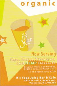 It's Yoga Juice Bar and Cafe Vancouver Canada