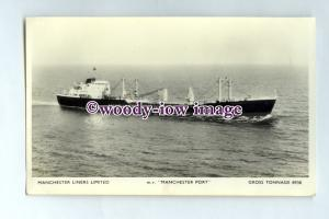 pf0134 - Manchester Liners Cargo Ship - Manchester Port , built 1966 - postcard