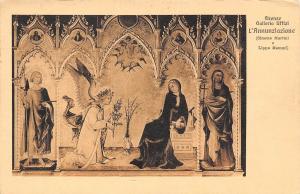 Italy Firenze Galleria Uffizi Annunziazione religious card 1923