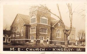 Kingsley IA~United Methodist Episcopal Iowa~Neighbors Real Photo Postcard c1913