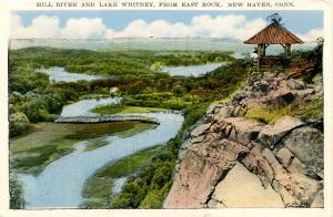 CT - New Haven - Mill River and Lake Whitney from East Rock