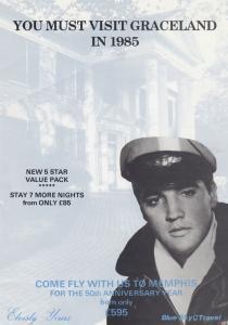 Elvis Presley Visit Graceland In 1985 50th Anniversary Flight Ephemera