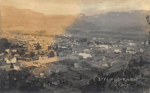 Steamboat Springs CO Hillside View Real Photo Postcard