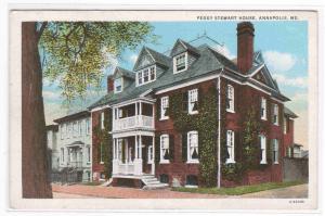 Peggy Stewart House Annapolis MD 1920s postcard