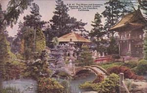 California San Francisco Tea House and Entrance Japanese Tea Garden Golden Ga...
