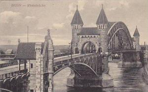 Bridge, Rheinbrucke, Bonn a Rh. (North Rhine-Westphalia), Germany, 1900-1910s