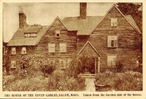 MA - Salem. House of Seven Gables. Garden Side